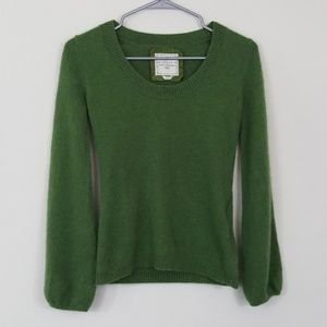 Old Navy 100% Cashmere Green Scoop Neck Sweater S